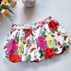 Baker by Ted Baker • rose floral bubble skirt
